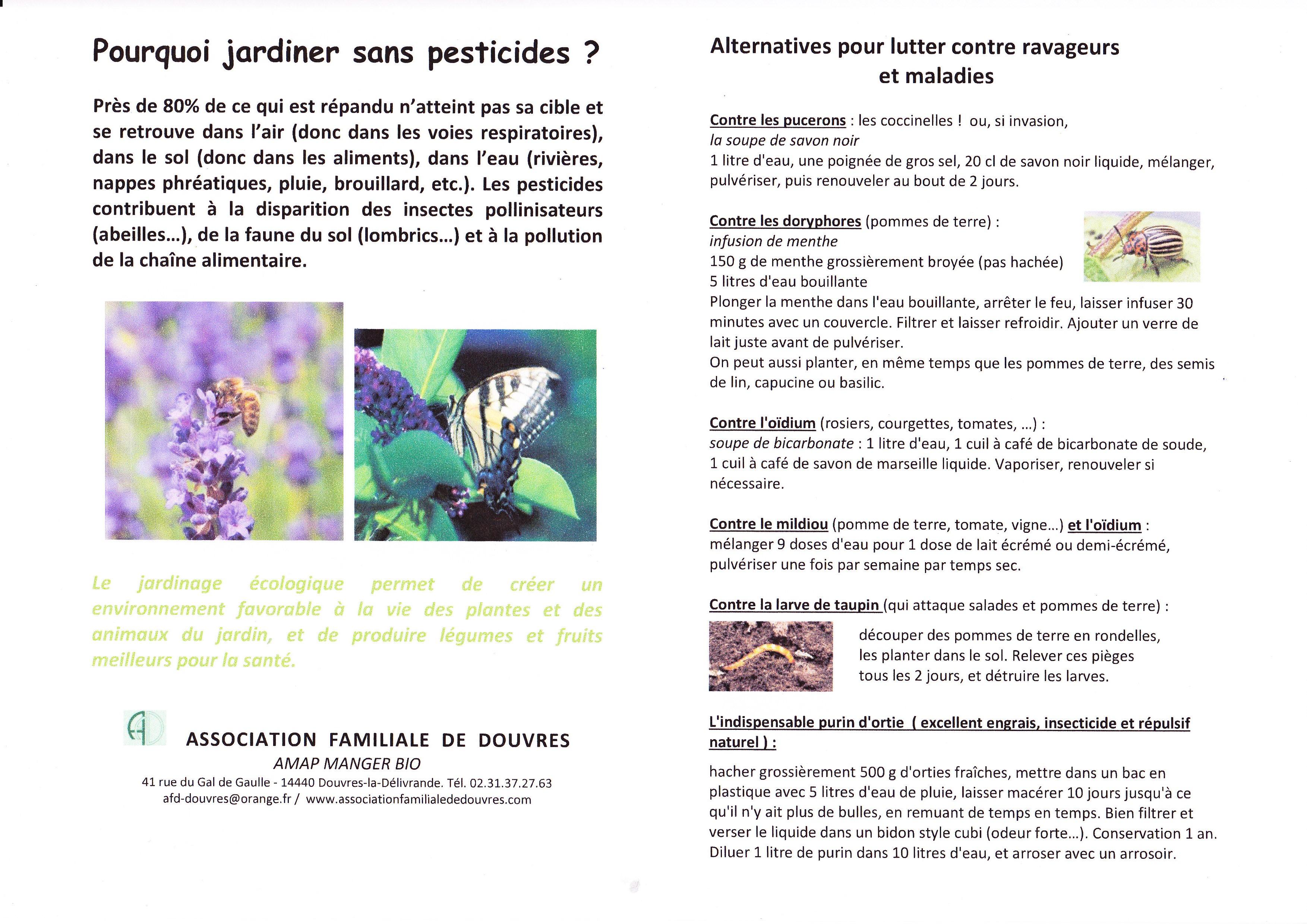 Bicarbonate De Soude Contre Les Pucerons environnement jardiner sans pesticides – association